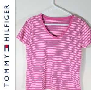 TOMMY HILFIGER Pink Stiped Tee